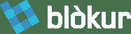 Blokur logo - white